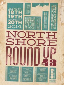 North Shore Round Up Poster 2014